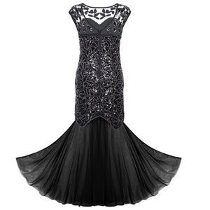 Sequin Gatsby 1920s Maxi Long Prom Party Dress